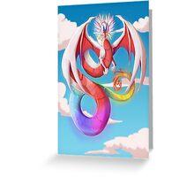 Cherubim - Rainbow dragon Greeting Card