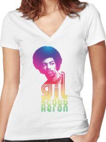 Gil Scott-Heron Women's Fitted V-Neck T-Shirt