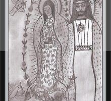 Virgen de Guadalupe and Cristo Negro de Atalaya by essieang