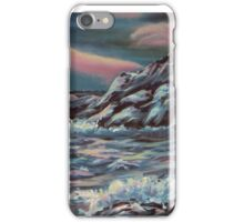 Seascape with Northern Lights iPhone Case/Skin