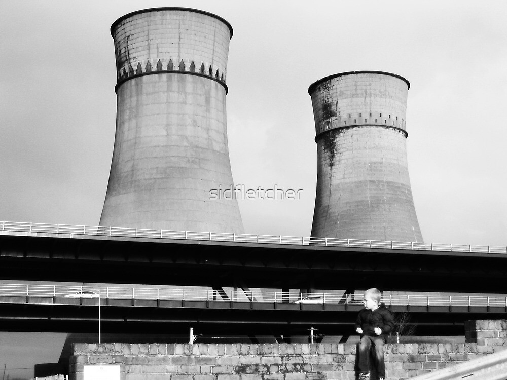 Cooling Towers / Viaduct / Boy by sidfletcher