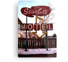 Starlite Motel Metal Print