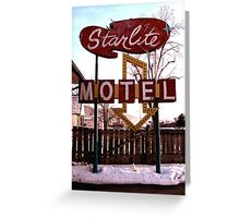 Starlite Motel Greeting Card