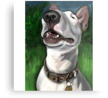 Lola English Bull Terrier Painting 2 Metal Print