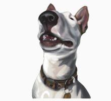 Lola English Bull Terrier Painting 2 Kids Tee