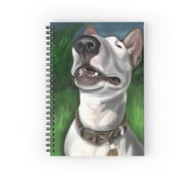 Lola English Bull Terrier Painting 2 Spiral Notebook