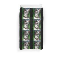 Lola English Bull Terrier Painting 2 Duvet Cover