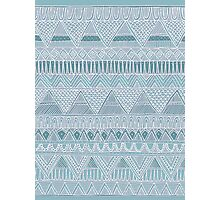 Lacy Blue Aztec Pattern Photographic Print