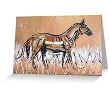 Bronze Horse Greeting Card