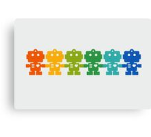 Rainbow Robots holding hands Canvas Print