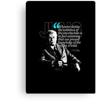 A Quote from Carl Gustav Jung Quote #23 of 50 available Canvas Print