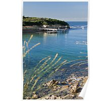 Port Campbell harbour and jetty Poster