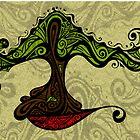 Bonsai in Colour - Card by MelDavies