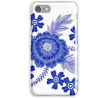 Blue Peony iPhone Case/Skin