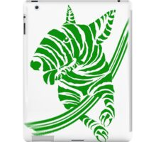 Zebra EBT Green and White  iPad Case/Skin