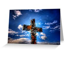 Rusty Cross Greeting Card