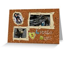 3 Little Piggy's Greeting Card
