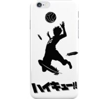 Haikyuu!! Hinata spike - black iPhone Case/Skin