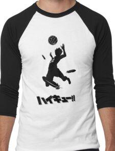 Haikyuu!! Hinata spike - black Men's Baseball ¾ T-Shirt