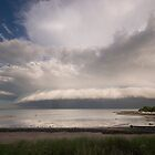 Storm over Milingimbi Beach, NT by Jim Langkopf