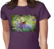 Beauty on the Buddlia Womens Fitted T-Shirt
