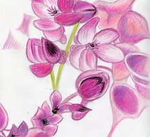 Psychedelic Pink Florals by Kashmere1646