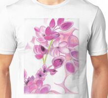 Psychedelic Pink Florals Unisex T-Shirt