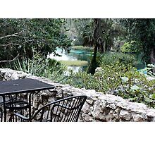 Table at Rainbow Springs State Park Photographic Print