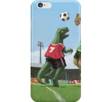 dinosaur football sport game iPhone Case/Skin