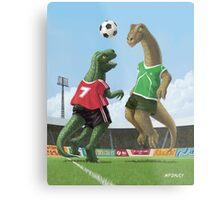 dinosaur football sport game Metal Print