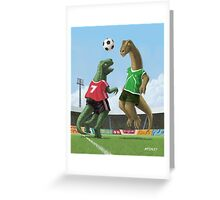 dinosaur football sport game Greeting Card