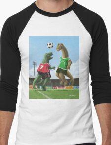 dinosaur football sport game Men's Baseball ¾ T-Shirt