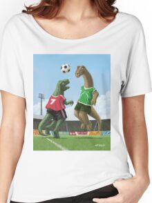 dinosaur football sport game Women's Relaxed Fit T-Shirt