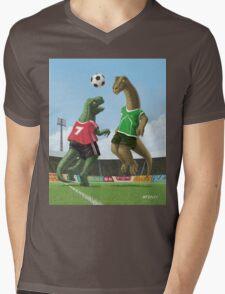 dinosaur football sport game Mens V-Neck T-Shirt