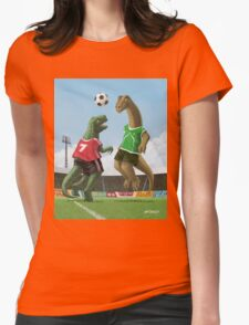 dinosaur football sport game Womens Fitted T-Shirt
