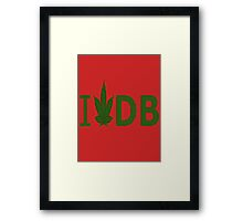 I Love DB Framed Print
