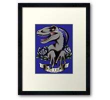 That's Blue, She's the Beta Framed Print