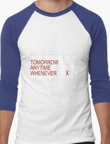Procrastinate on black Men's Baseball ¾ T-Shirt