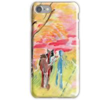 Study of Syd Barrett's 'Man and Donkey' iPhone Case/Skin