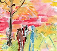Study of Syd Barrett's 'Man and Donkey' by Kashmere1646
