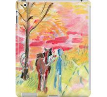 Study of Syd Barrett's 'Man and Donkey' iPad Case/Skin