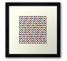 Colourful Chevron Framed Print