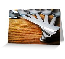 Spoons. Greeting Card