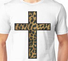 Leopard Print Cross Unisex T-Shirt