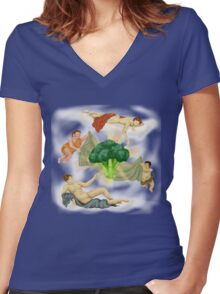 Baroccoli Women's Fitted V-Neck T-Shirt