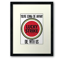 mad men lucky strike pitch Framed Print