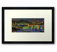 Experiment in Light - Panoramic - Moods Of A City - THE HDR Experience Framed Print