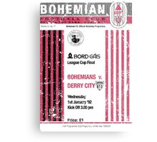 Bohemians vs Derry City Retro Match Programme Metal Print