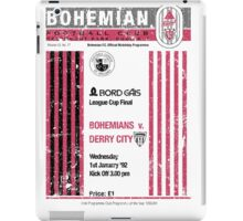 Bohemians vs Derry City Retro Match Programme iPad Case/Skin