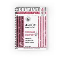 Bohemians vs Derry City Retro Match Programme Spiral Notebook